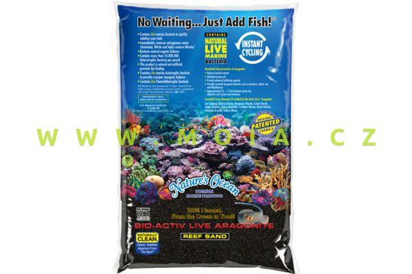 Nature Ocean Black Beach Bio Active Live Sand, Grain Size 0,5-1,7mm - 9,07kg Bag
