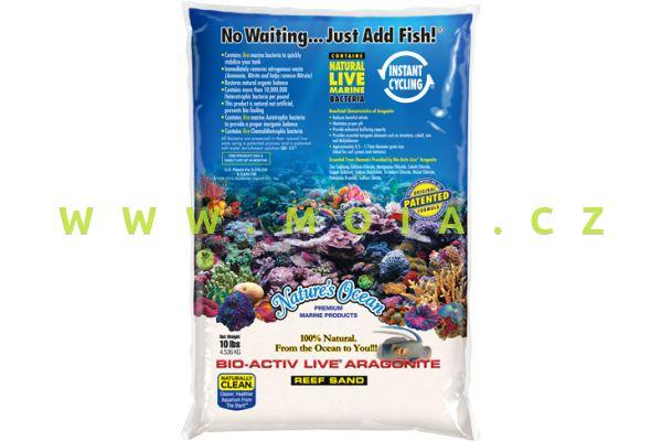 Natures Ocean Bio Active Live Sand, Extra fine Grain Size 0,1-0,5mm - 4,54kg Bag