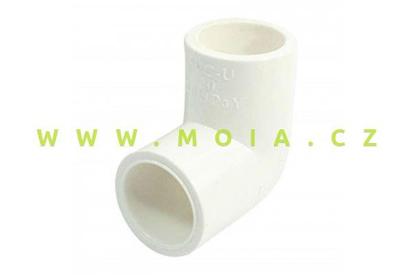 PVC-U, PN16, White 90°Elbow-50mm
