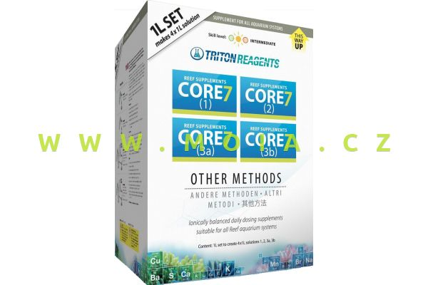 CORE7 Reef Supplements 4x1l concentrate (7x more, no dilution)