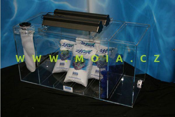Seewasser Komplettfiltersystem bis 400l, Glasfilterbecken, Filterschlamm, Beleuchtung