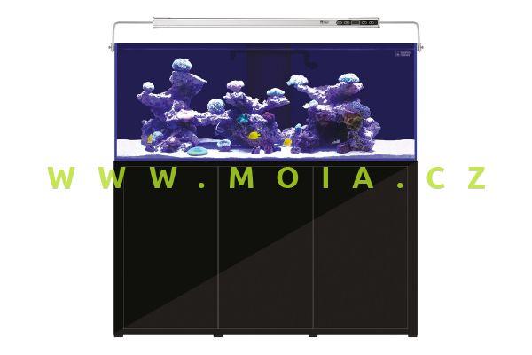 L'Aquarium 720L black cabinet 150cm