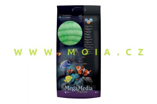 FILTER WOOL Mega Media medium 500g, Green